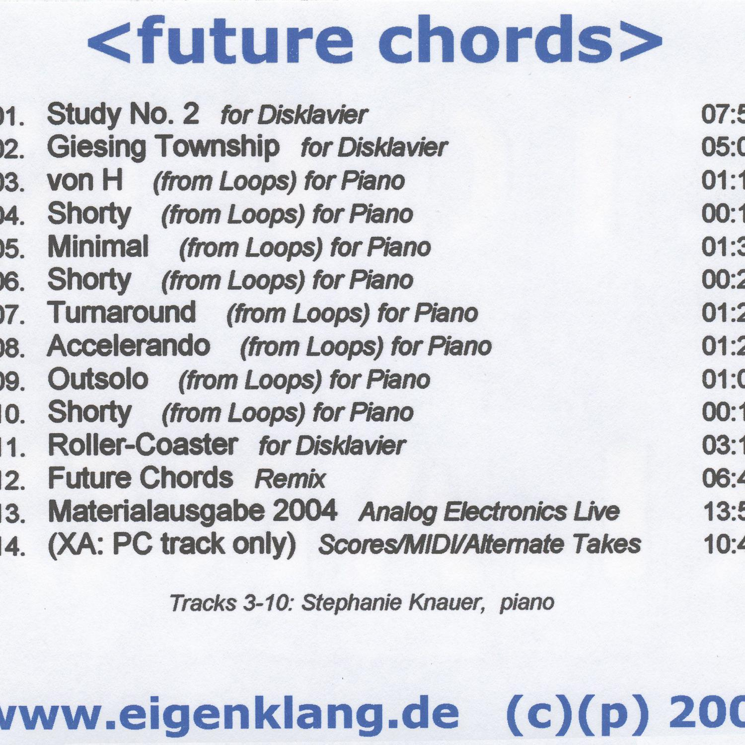 <future chords> - back sleeve